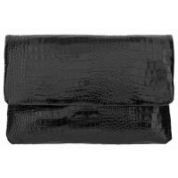 The Tannery|Clutch Bag|1013|Croc|Leather|Stamped Croc|Leather Clutch|Ladies clutch bag|Stamped leather|Evening Bag|Ladies Evening Bag|Wedding|Special Occassions|Black