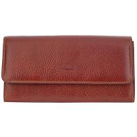 Boldrini|Ladies|Long|Purse|420|Full|Grain|Brown|