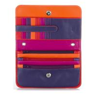 Mywalit|Full|Flap|Clutch|513|Sangria|Multi|Open|
