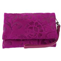 The Tannery|Clutch bag|738|Orchide|Clutch with strap|Leather clutc|Wedding|Occasions|Ladies leather clutch|Evening Bag|Wriststrap|Fuchsia