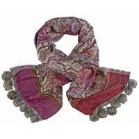 Kapre|Pom|Pom|Snake|Scarf|Grey/Purple/Red|