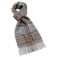 The Tannery|Bronte by Moon|Aberdulais|Slate Grey|mens wool scarf|wool scarf|Made in Britain