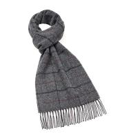Bronte by Moon|Windowpane|Charcoal|Scarf|