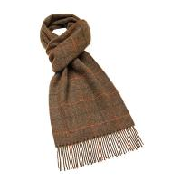 Bronte by Moon|Windowpane|Country|Brown|Scarf|