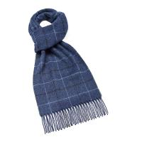 Bronte by Moon|Windowpane|Navy|Scarf|