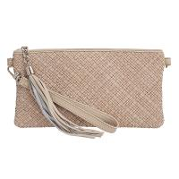 Tannery|Bella|Clutch|Bag|708|Woven|Cream|