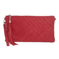 Tannery|Clutch|Bag|710|Woven|Red|
