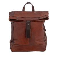 Chiarugi|Laptop Backpack|54009|leather backpack|mens backpack|ladies backpack|distressed leather|brown leather|traditional leather|roll backpack|The Tannery
