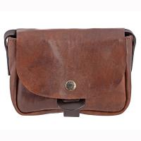 Chiarugi|Mini Shoulder Bag|53008|ladies shoulder bag|leather shoulder bag|distressed leather|brown leather|natural leather|The Tannery