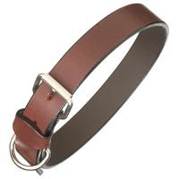 Pampa|Brown|Leather|Dog|Collar|Plain|